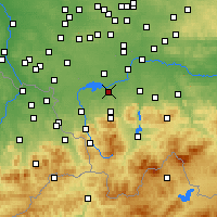 Nearby Forecast Locations - Czechowice-Dziedzice - Map