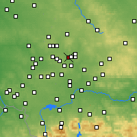 Nearby Forecast Locations - Czeladź - Map