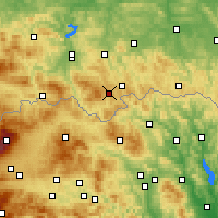 Nearby Forecast Locations - Krynica-Zdrój - Map
