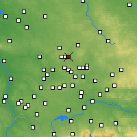 Nearby Forecast Locations - Piekary Śląskie - Map