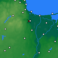 Nearby Forecast Locations - Pruszcz Gdański - Map