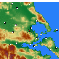 Nearby Forecast Locations - Almyros - Map