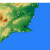 Nearby Forecast Locations - Torre-Pacheco - Map