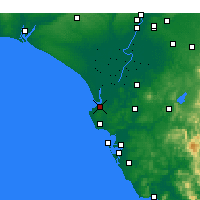 Nearby Forecast Locations - Sanlúcar de Barrameda - Map