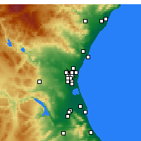 Nearby Forecast Locations - Paterna - Map