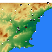 Nearby Forecast Locations - Orihuela - Map
