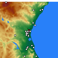 Nearby Forecast Locations - Moncada - Map