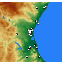 Nearby Forecast Locations - Mislata - Map
