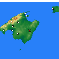 Nearby Forecast Locations - Manacor - Map