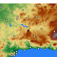 Nearby Forecast Locations - Loja - Map