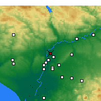 Nearby Forecast Locations - La Rinconada - Map