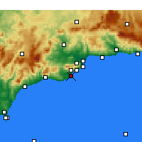 Nearby Forecast Locations - Fuengirola - Map