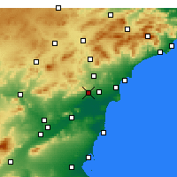 Nearby Forecast Locations - Crevillent - Map