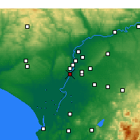 Nearby Forecast Locations - Coria del Río - Map