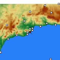 Nearby Forecast Locations - Benalmádena - Map
