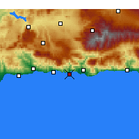 Nearby Forecast Locations - Almuñécar - Map