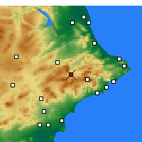Nearby Forecast Locations - Alcoy - Map