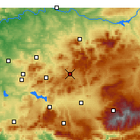 Nearby Forecast Locations - Alcalá la Real - Map