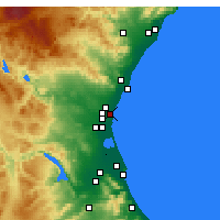 Nearby Forecast Locations - Alboraya - Map
