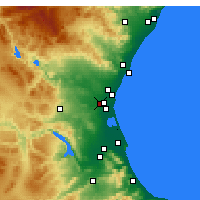 Nearby Forecast Locations - Alaquàs - Map