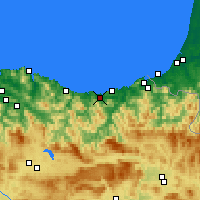 Nearby Forecast Locations - Zarautz - Map