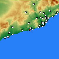 Nearby Forecast Locations - Vilanova i la Geltrú - Map
