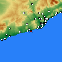 Nearby Forecast Locations - Sitges - Map