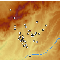 Nearby Forecast Locations - San Sebastián de los Reyes - Map