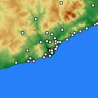 Nearby Forecast Locations - Sant Feliu de Llobregat - Map