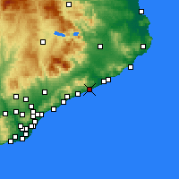Nearby Forecast Locations - Pineda de Mar - Map