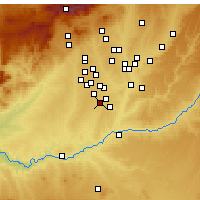 Nearby Forecast Locations - Parla - Map