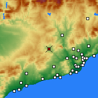 Nearby Forecast Locations - Igualada - Map