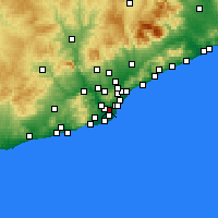 Nearby Forecast Locations - L'Hospitalet de Llobregat - Map