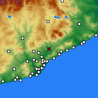 Nearby Forecast Locations - Granollers - Map