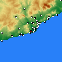 Nearby Forecast Locations - Gavà - Map