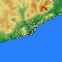 Nearby Forecast Locations - Cornellà de Llobregat - Map