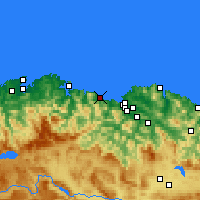 Nearby Forecast Locations - Castro Urdiales - Map