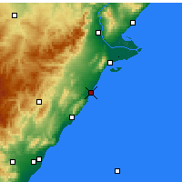 Nearby Forecast Locations - Benicarló - Map