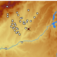 Nearby Forecast Locations - Arganda del Rey - Map