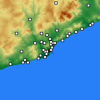 Nearby Forecast Locations - Eixample - Map