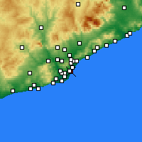 Nearby Forecast Locations - Ciutat Vella - Map