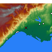 Nearby Forecast Locations - Tarsus - Map