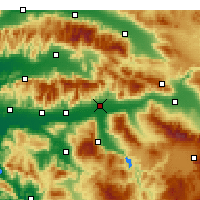 Nearby Forecast Locations - Nazilli - Map