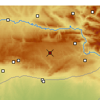 Nearby Forecast Locations - Midyat - Map