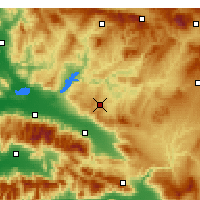 Nearby Forecast Locations - Kula - Map