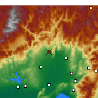 Nearby Forecast Locations - Kozan - Map