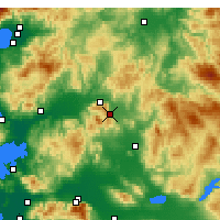 Nearby Forecast Locations - Kırkağaç - Map
