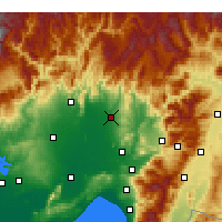 Nearby Forecast Locations - Kadirli - Map