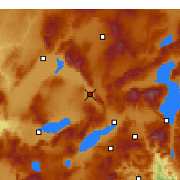 Nearby Forecast Locations - Dinar - Map