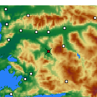 Nearby Forecast Locations - Çine - Map